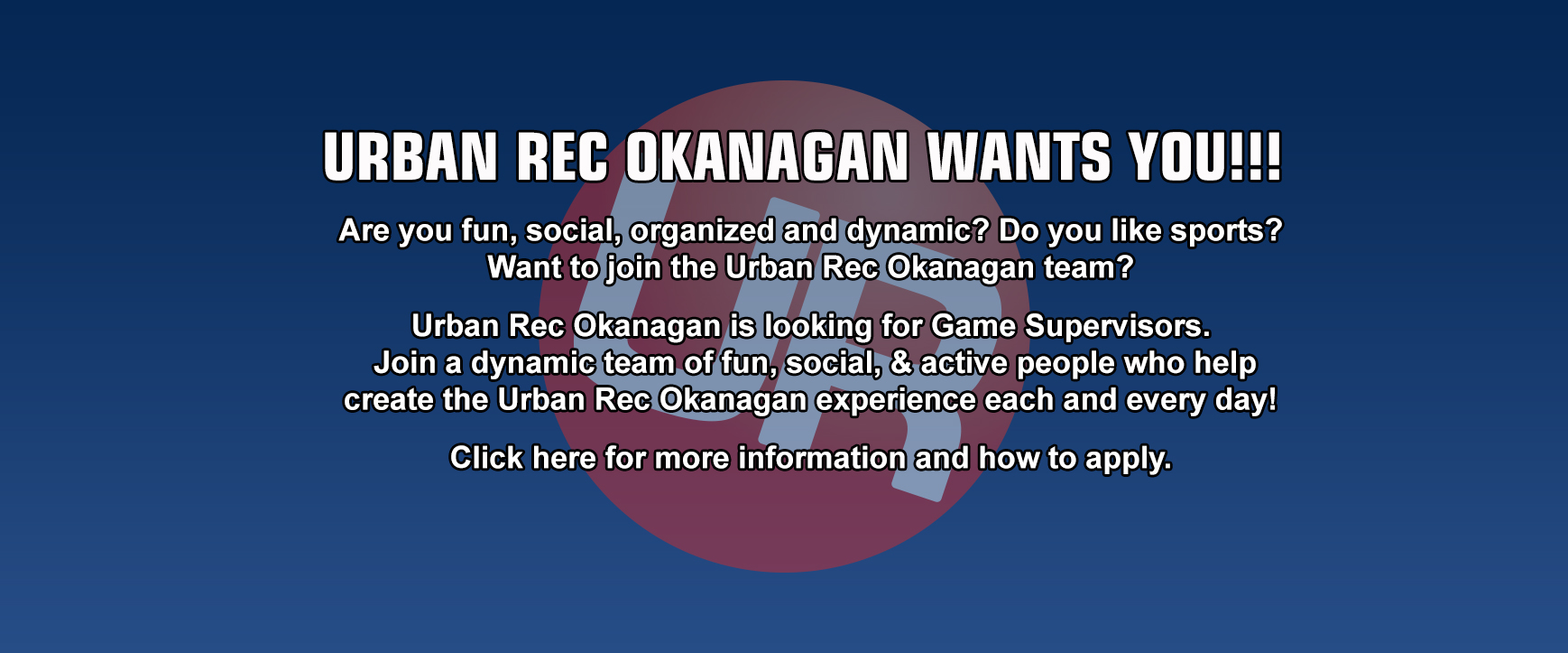 Get into the action with Urban Rec
